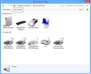 Windows 8 Printer Driver Location