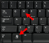 Windows key + W key