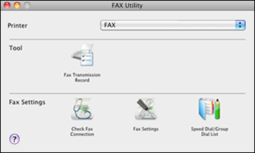 Setting Up Speed/Group Dial Lists Using the Fax Utility