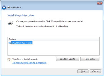 Installing the PCL or PostScript Printer Software - Windows