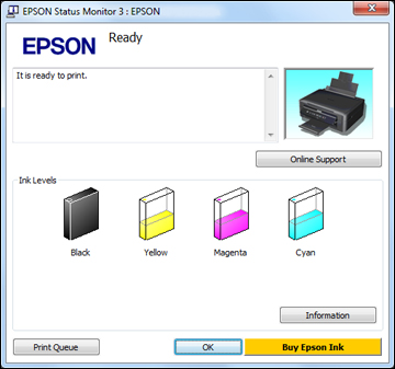 download status monitor for epson stylus cx6600