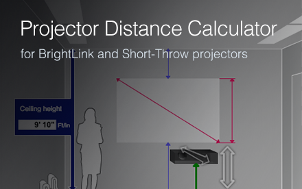 Projection Distance Calculators Epson Us