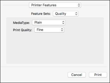 how to change printer driver settings mac