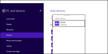 Add Device Win Mirror on Windows 10 Wireless Connection