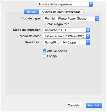 Cómo imprimir su documento o foto - Mac