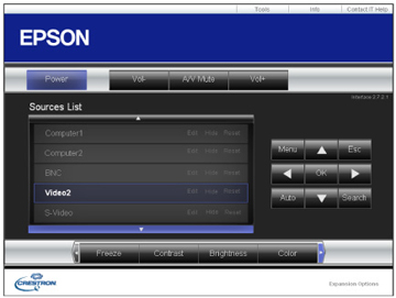 Controlling a Networked Projector Using Crestron RoomView