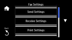 entering fax header information