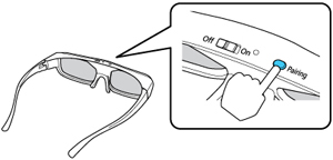 pairing the 3d glasses with the projector rh files support epson com