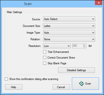 Starting a Scan with Document Capture Pro or Document Capture