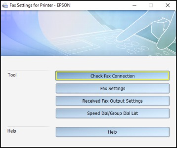 Setting Up Fax Features Using the Fax Utility - Windows