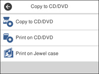 printing a jewel case insert from a memory card