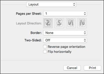 Selecting Print Layout Options - PostScript Printer Software