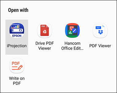 Epson iProjection App for Android   Mobile and Cloud Solutions