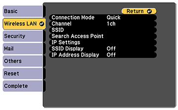 Connecting computer and projector or TV