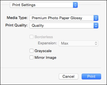 mac how to change printer paper settings