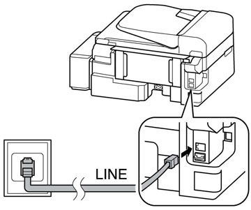 epson ecotank l555 l series all in ones printers support DSL Wiring Connections note if you have a dsl or isdn connection you must connect the appropriate dsl filter or isdn terminal adapter or router to the wall jack to be able to