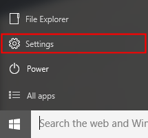 Windows 10 Start and Settings