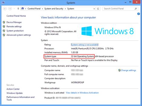 Windows 8 Properties