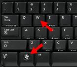 Windows key + W key