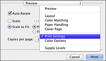 Selecting Basic Print Settings - Mac OS X 10 5/10 6/10 7
