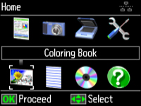 Select Coloring Book And Press The OK Button