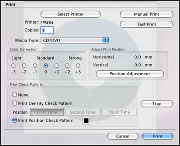 Epson cd print mac os