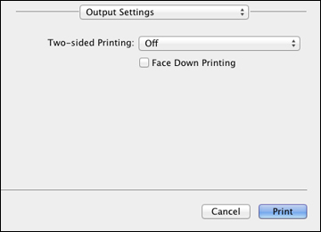 Selecting Double-sided Printing Settings - Mac OS X 10 5