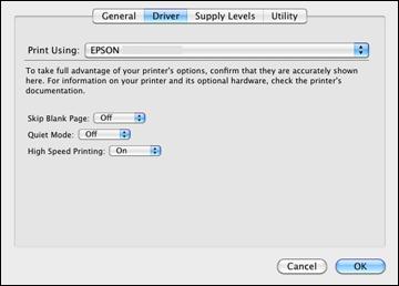 Selecting Printing Preferences - Mac OS X 10.5/10.6/10.7