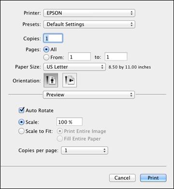 Setup your Mac to print