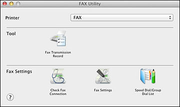 setting up fax features using the fax utility mac os x