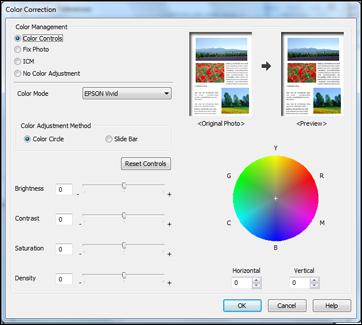 Custom Color Correction Options