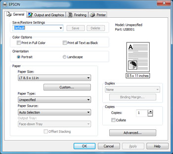 Selecting Basic Print Settings